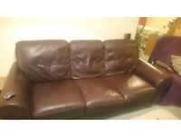 Free good condition 3 seater leather sofa