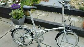 "LIGHTWEIGHT DAHON BROADWALK FOLDING BIKE 7 SPEED SHIMANO 20"" WHEELS SERVICED"