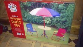 Kids patio set