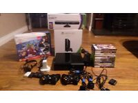 Xbox 360 500gb console and kinect with wireless controllers and games 25 £ 165