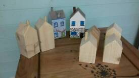 Hand made wooden houses