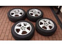 """set of 4,16"""" inch Skoda alloy wheels with pcd:5x100 without tyres"""