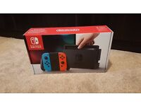 Nintendo Switch Console BRAND NEW & SEALED - Neon Red & Blue - 32 GB includes Joy Con Controllers