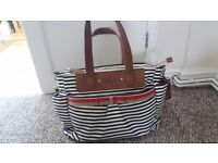 Babymel Cara Stripe Navy Changing Bag - will consider offers