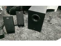 Altec lansing 2.1 mains powered speakers
