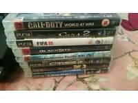 For sale ps3 black plus games
