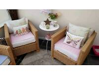 Rattan conservatory chairs