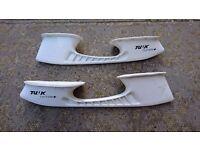 Ice hockey skate blade holders