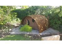 Children's wooden/timber mini hobbit houses playhouses/sheds all ready for summer must go £400.00