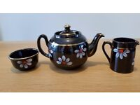 Vintage Alcock, Lindley and Bloore Brown betty tea set