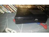 Xbox 360 Slim, Kinect camera and mount, 2 controllers, charge port and 19 games