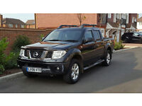Nissan Navara Double Cab Outlaw DCI (2006/56 Reg) - NEW SHAPE - D40 MODEL - MANUAL - 4X4 - BLACK