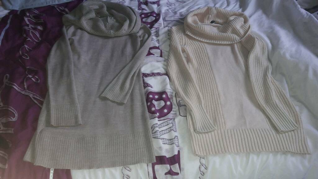 2 ladies jumpers size 12