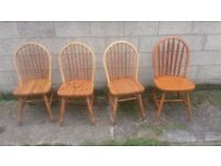 4 wooden dining chairs : UPCYCLE project