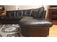 *Excellent condition *Real leather Corner sofa £250 , bought priced £999