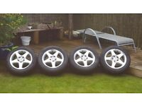 "Mercedes-Benz 16"" Alloys set of 4 winter tyres and wheels"