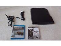 PS3 Slim 160GB+ 2x Controllers (Batman Arkham City + Yellowstone BluRay)