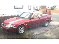SAAB 93 CONVERTIBLE RED GORGEOUS CAR TAXED N MOT'D