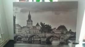 Large Cambridge bridge canvas