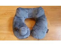Purefly Travel Pillow - luxuriously soft compact inflatable supportive neck pillow in carry-bag