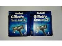 Gillette Sensor Razor Blades (16 Blades, 2 packs x 8)