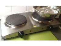 double plate electric cooker