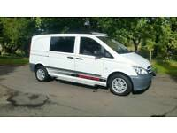 2012 mercedes vito crew van windows 5 seats