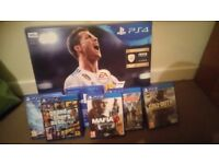 Ps4 excellent condition with games