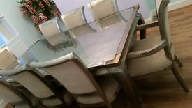 Dubai imported Metallic dining set