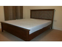 King Size mahogany bed with bedside table