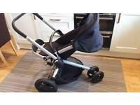 Quinny Buzz Xtra Travel system Stroller Rocking Black with newborn insert