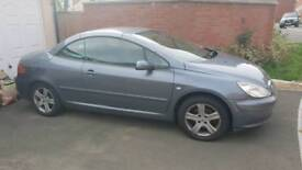 Peugeot 307cc convertible SWAP/PX for motorcycle 125cc+