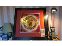Manchester United Glass Picture