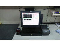 TOSHIBA ST-ST A10 EPOS TILL SYSTEM TOUCH SCREEN COMPLETE FOR SHOP, GROCERY, OFFLICENCE, CASH TILL