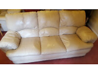 Leather sofa and 2 armchairs