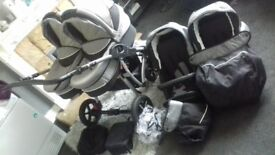 Double danny sport pram used twice excellent condition like new