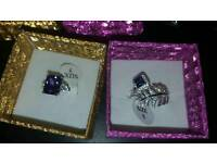 New 925 Sterling Silver stamp Rings - Size M/N