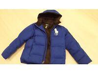 Boys Bright Blue Ralph Lauren Puffa Jacket
