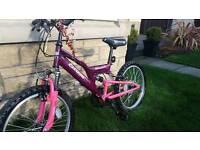 "Girls 16"" wheel Raleigh bike"