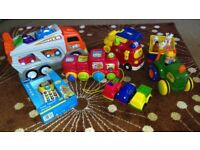 Cars, Tractor, Train, Trampoline, toys