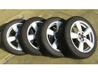 """Four 7x16"""" Wolfrace alloy wheels with Michelin Alpin A4 winter tyres - fits Audi A1"""
