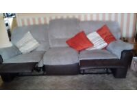 3 seater recliner sofa 2 armchairs for sale