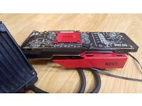 AMD Radeon R9 290 graphics card with water cooling and warranty