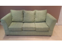 3 seater settee (sofa bed) and 2 armchairs