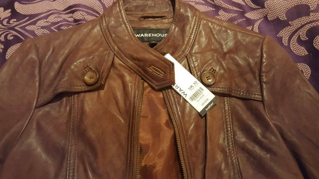 New genuine leather jacket from warehouse
