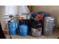 Camping stove (3 available) , gas cans for extra