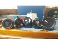 Vintage and Rare M42 mount camera lens collection w/ very rare Carl Zeiss 20mm f4