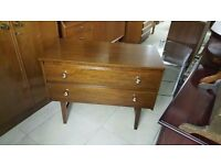 Dark Wood Retro Chest of Drawers / Small Sideboard in Good Condition