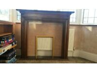 COMPLETE FIRE SURROUND INCLUDING SMALL HEARTH, FIRE BOX & FIRE BASKET