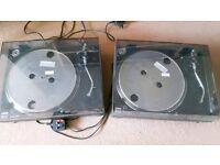 Two LIMIT Quartz Direct Drive DJ Turntables - DJ 2500SQ